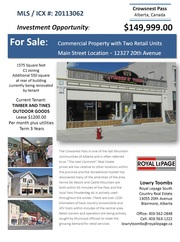 $149, 999.00 - FOR SALE: Commercial Property w/ 2 Retail Units Downtown